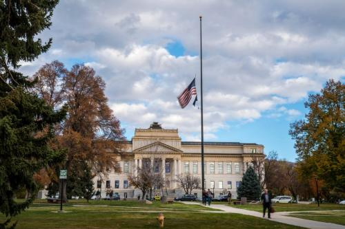 To honor ChenWei Guo, the flags of the University of Utah were flown at half-staff through Friday, Nov. 3, until sunset.Copyright: The University of Utah