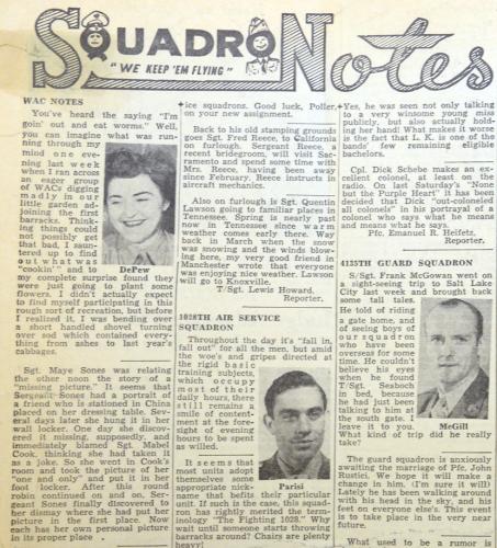 Squadron Notes