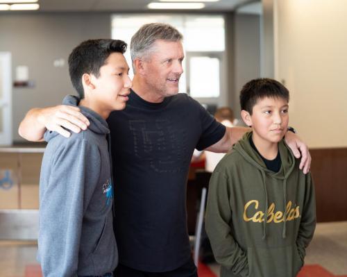 Students meet coach Whittingham